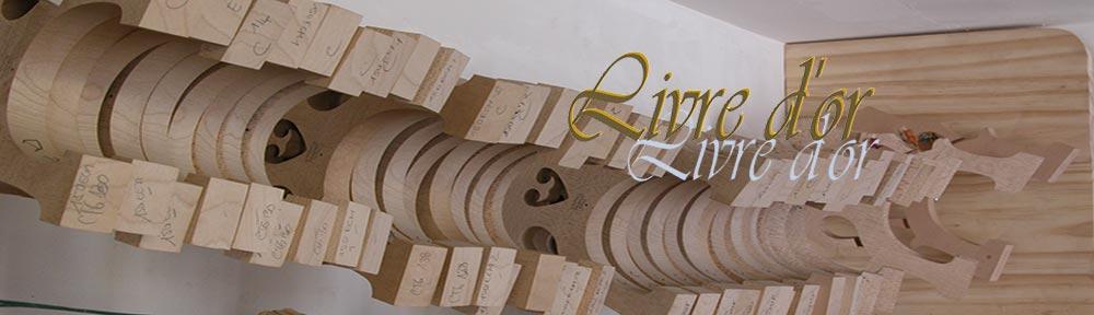 Le livre d'Or du Luthier Fabrice Gougi Maitre Luthier d'Art