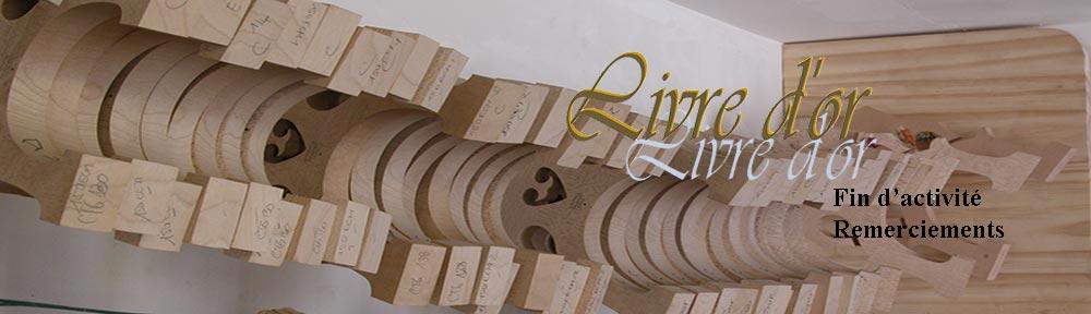 Fin d'activité du Maitre Luthier d'Art Fabrice Gougi remerciements des clients